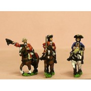 Seven Years War French: Command: Mounted General and two Staff Officers pas cher