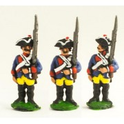 Seven Years War Prussian: Musketeer at attention, variants. pas cher