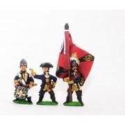 Seven Years War Prussian: Command: Fusilier Officer, Standard Bearer & Drummer pas cher