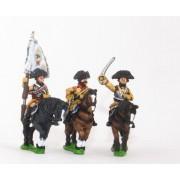 Seven Years War Prussian: Command: Cuirassier Officer, Standard Bearer & Trumpeter pas cher