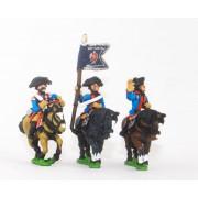 Seven Years War Prussian: Command: Dragoon Officer, Standard Bearer & Trumpeter pas cher