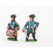 Seven Years War Prussian: Command: Jager De Noble Officers & Drummers pas cher