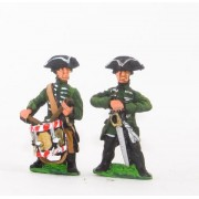 Seven Years War Prussian: Command: Musketeer Officers & Drummers pas cher
