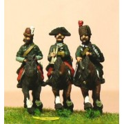 Seven Years War Prussian: Command: 2 Lancer Officers & Trumpeter pas cher