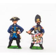 Seven Years War Prussian: Command: Officers & Drummers (schony) pas cher