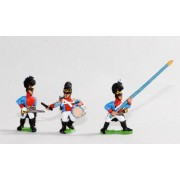 Bavarian 1805-14: Line Grenadiers or Jagers: Command: 2 Officers, 2 Drummers, 2 Standard Bearers pas cher