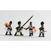 Bavarian 1805-14: Line Grenadiers or Jagers: Command: 2 Officers, 1 Drummer, 1 Hornist, 2 Standard Bearers pas cher