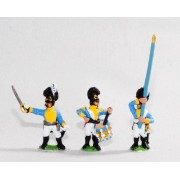 Bavarian 1805-14: Line Grenadiers or Jagers: Command: 2 Officers, 2 Standard Bearers & 2 Drummers pas cher