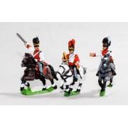 Bavarian 1805-14: Command: Dragoon Officer, Standard Bearer & Trumpeter pas cher