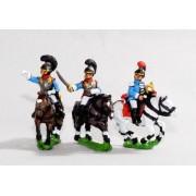 Bavarian 1805-14: Command: Cuirassier Officer, Standard Bearer & Trumpeter pas cher