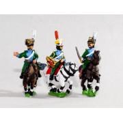 Bavarian 1805-14: Command: Lancer Officer, Standard Bearer & Trumpeter pas cher