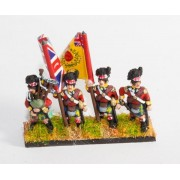 British 1814-15: Command: Highlander Officers & Standard Bearers in trews, Piper & Drummer in kilts pas cher