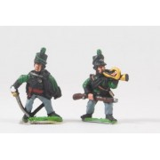 British 1814-15: Command: Rifleman Officers & Buglers pas cher