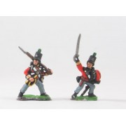 British 1814-15: Command: Light Infantry Officers & buglers pas cher