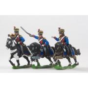 British Cavalry: Command: Light Dragoon Officer, Standard Bearer & Bugler pas cher