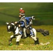 British Cavalry: Command: Hussar Officer, Standard Bearer & Bugler pas cher