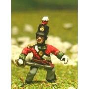 British Infantry 1800-13: Command pack: Officer, Standard Bearer & Drummer pas cher