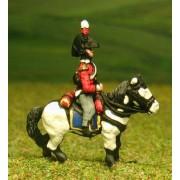 British Cavalry 1800-13: Command: Heavy Cavalry Officer, Standard Bearer & Trumpeter in Bicorne pas cher