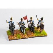 British Cavalry 1800-13: Command: Light Dragoon Officer, Standard Bearer & Trumpeter pas cher