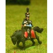 Dutch Belgian 1814-15: Command: Hussar Officer, Standard Bearer & Trumpeter pas cher