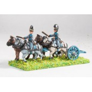 Bavarian: Line Artillery Limber with four horses and two drivers pas cher