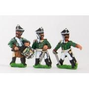 Russian 1813-15: Command: Line Officer, Standard Bearer & Drummer pas cher