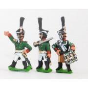 Russian 1813-15: Command: Grenadier Officer, Standard Bearer & Drummer pas cher