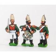 Russian 1813-15: Command: Pavlov Lifeguard Officer, Standard Bearer & Drummer pas cher