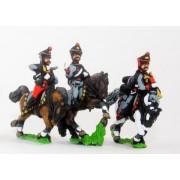 Russian 1813-15: Command: Hussar Officer, Standard Bearer & Trumpeter pas cher