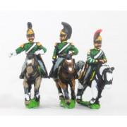 Russian 1813-15: Command: Dragoon Officer, Standard Bearer & Trumpeter pas cher