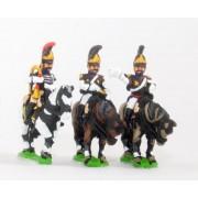 Russian 1813-15: Command: Cuirassier Officer, Standard Bearer & Trumpeter pas cher