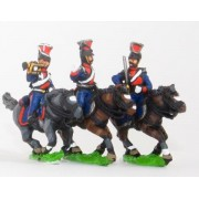 Russian 1813-15: Command: Lancer Officer, Standard Bearer & Trumpeter pas cher