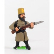Russian: Militia in Greatcoat & Felt Hat with Musket pas cher