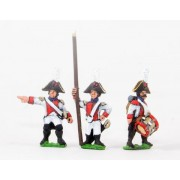 Early Spanish Infantry: Command: Line Officer, Standard Bearer and Drummer, halted pas cher
