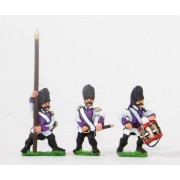 Early Spanish Infantry: Command: Grenadier Officer, Standard Bearer and Drummer pas cher