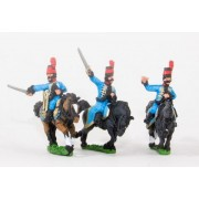 Spanish Cavalry: Command: Hussar Officer, Standard Bearer and Drummer pas cher