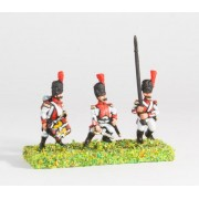 Westfalia: Foot Guard: Command: Officer, Standard Bearer & Drummer pas cher