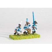 Westfalia or Berg: Line Infantry: Command: Officer, Standard Bearer & Drummer pas cher