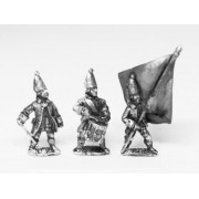 Seven Years War Russian: Command: Grenadier Officer, Standard Bearer & Drummer pas cher