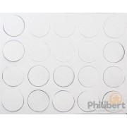 Aimants Adhésifs 25 mm de Diamètre (100) pas cher