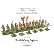 American War of Independence: British Infantry Regiment pas cher