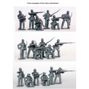 American Civil War Union Infantry in sack coats Skirmishing 1861-65 pas cher