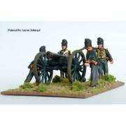 British Foot Artillery firing 9 pdr pas cher