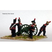 Foot Artillery firing 6 pounder pas cher
