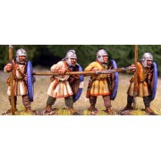 Arthurian Regular Spearmen in Helmets pas cher