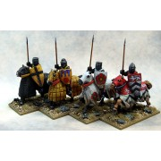 Mounted Crusading Knights (Great Helm) (Lance Upright) pas cher