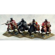 Mounted Crusading Knights (Open Helms) (Lance Couched) pas cher