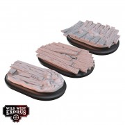 Wild West Exodus - Red Oak Medium Oval Base Topper Set pas cher