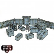 Wild West Exodus - Red Oak Crates, Fences and Barrels pas cher