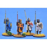 Crusading Foot Knights (Great Helms) (Standing) pas cher